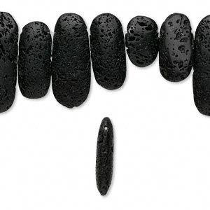 Lava Stone Flat, 20x14mm-40x20mm. Qty: 24 pc