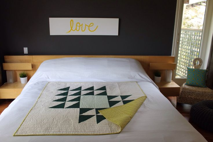 A personal favorite from my Etsy shop https://www.etsy.com/listing/229909194/modern-throw-quilt