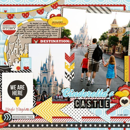 Disney Scrapbook Page - inspirational scrapbook layout by