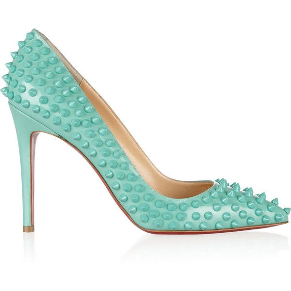 Pigalle Spikes 100 leather pumps (8.800 NOK) found on Polyvore