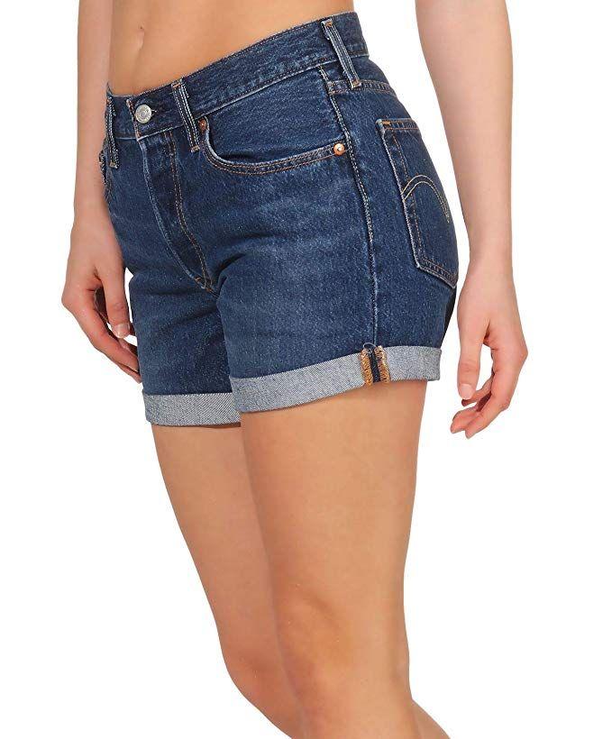 Levi S 501 Short Long Pantalones Cortos Para Mujer Amazon Es Amazon Es Pantalones Cortos Para Mujer Ropa Pantalones Cortos