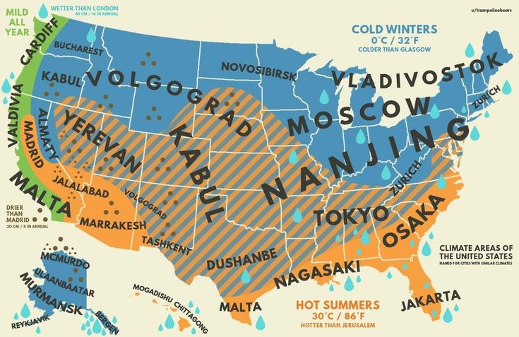 us climate with equivalent cities from around the world moreby trampolinebears this a rough map of american climate regions comparing parts of the us