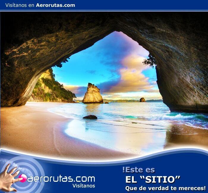 #Conoce este #paraiso enmarcado en piedra, #visita las Cathedral Caves en #nuevazelanda. ¡Reserva Ahora! www.aerorutas.com   #travel #viajes #tourism #turismo #traveltips  #viaje