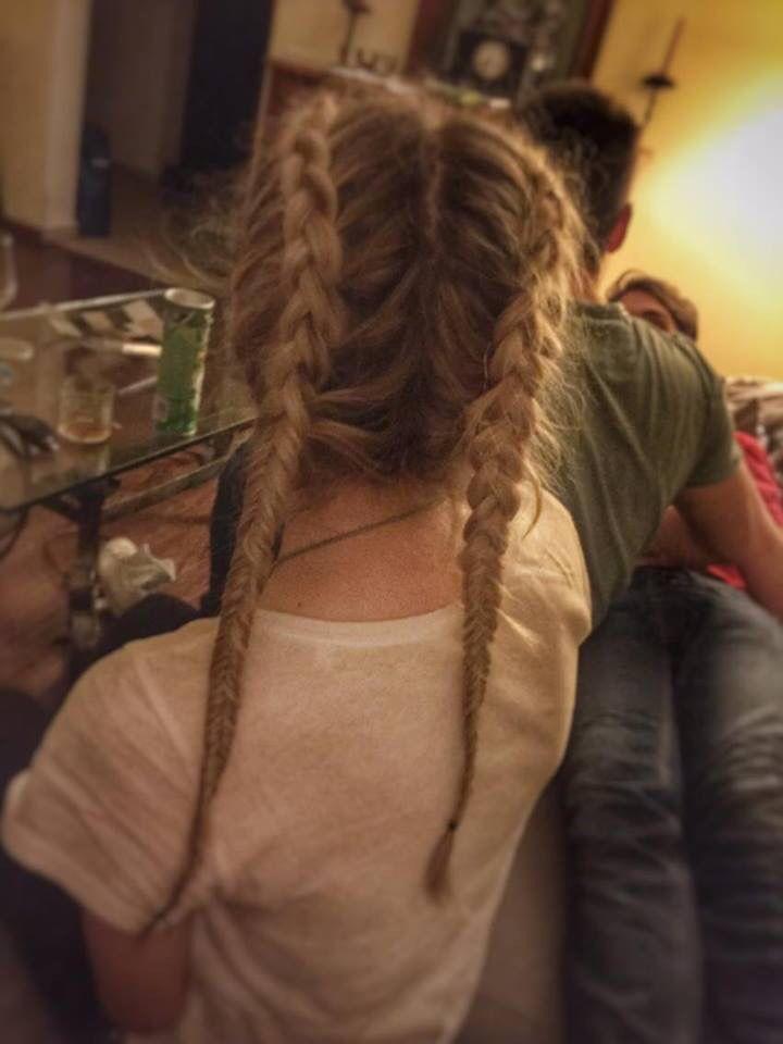 #underbraid#fishtale#blondie#mediumhair