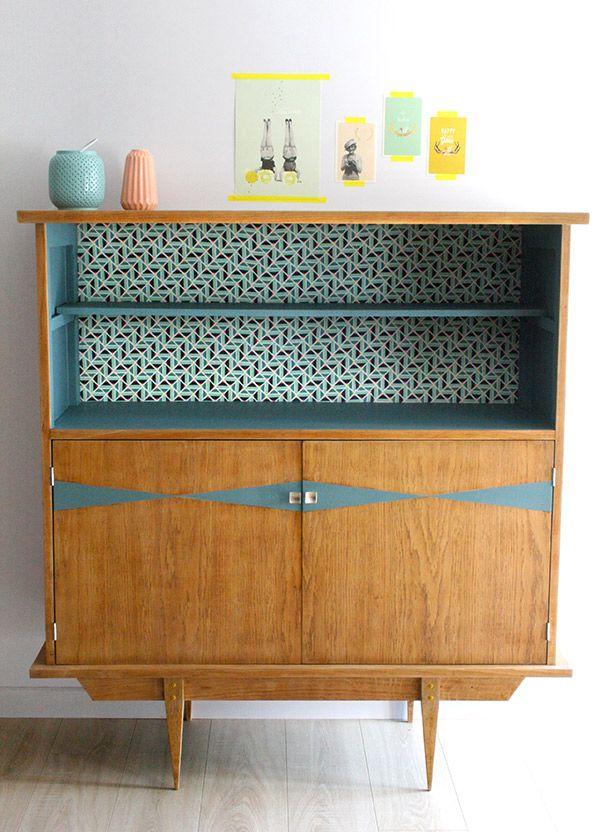 buffet art d co vintage r nov et relook par les jolis. Black Bedroom Furniture Sets. Home Design Ideas