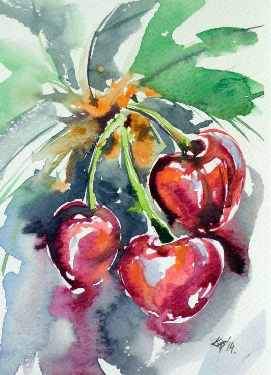 Buy Cherry, Watercolours by Kovács Anna Brigitta on Artfinder. Discover thousands of other original paintings, prints, sculptures and photography from independent artists.
