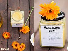 Ringelblumensalbe die die Wundheilung beschleunigt und die Haut schön weich macht kann man mit nur wenigen Zutaten ganz einfach selber machen.