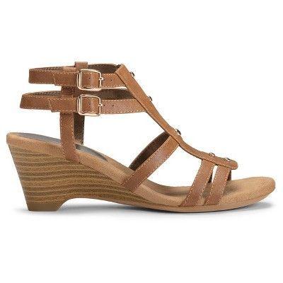 Women's A2 by Aerosoles Mayor Heeled Gladiator Sandals - Tan 6