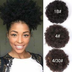Afro Kinky Curly Ponytail Bun Schwarze Frauen Synthetic Hair Puff Clip In Pferdeschwänzen #Gottta #Bun - 13. Juli 2019, um 06:27 Uhr