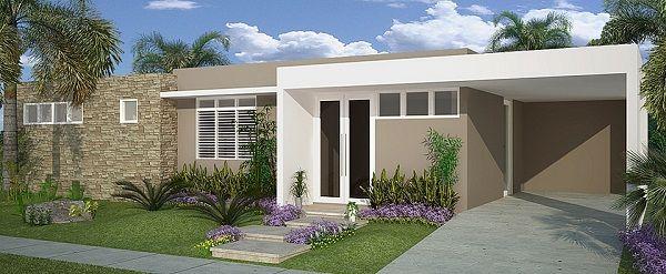 Fachadas de exteriores de casas terreras peque as puerto for Fachadas modernas para casas pequenas de una planta