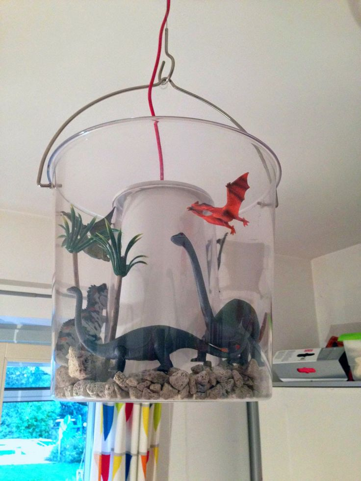 #Ikea Hacks Kids #DIY #handmade #Ikea lamp dino #Kinderlampe Dino