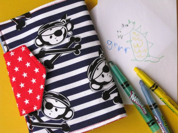 Pirate monkey toddler children's drawing wallet / by boutique789, $23.00