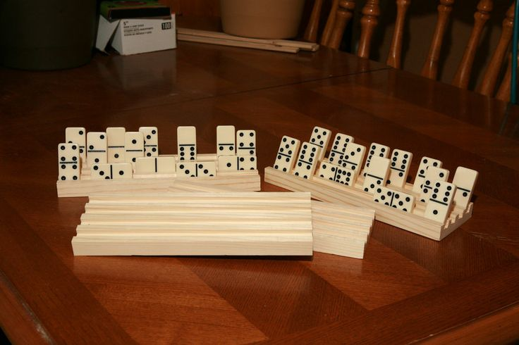 Set of 4 Wooden Domino Holders Mexican Train **4 Rows On Each Rack** NEW!! | For You, Mom ...