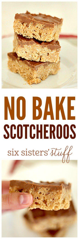 No Bake Scotcheroos on SixSistersStuff.com