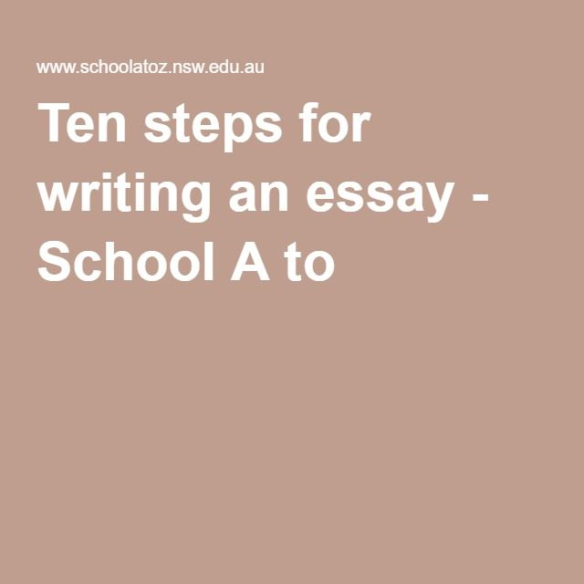 best essay writing tips images gym writing and  ten steps for writing an essay school a to z