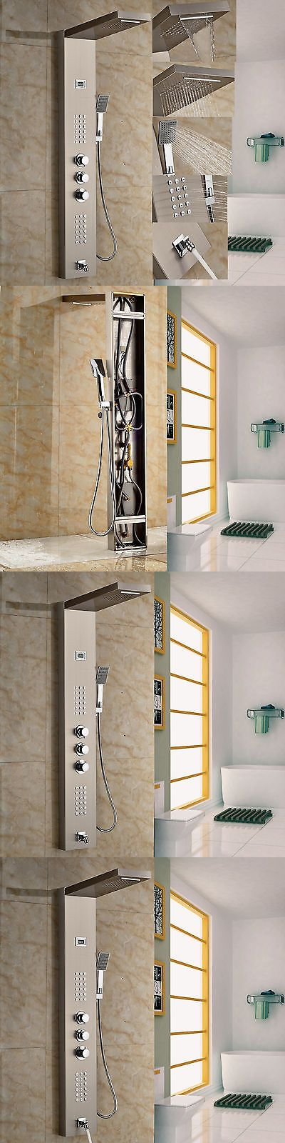 Shower Panels and Massagers 121849: Brushed Nickel Shower Column Tub Jets Hand Shower Unit Thermostatic Shower Panel -> BUY IT NOW ONLY: $129 on eBay!