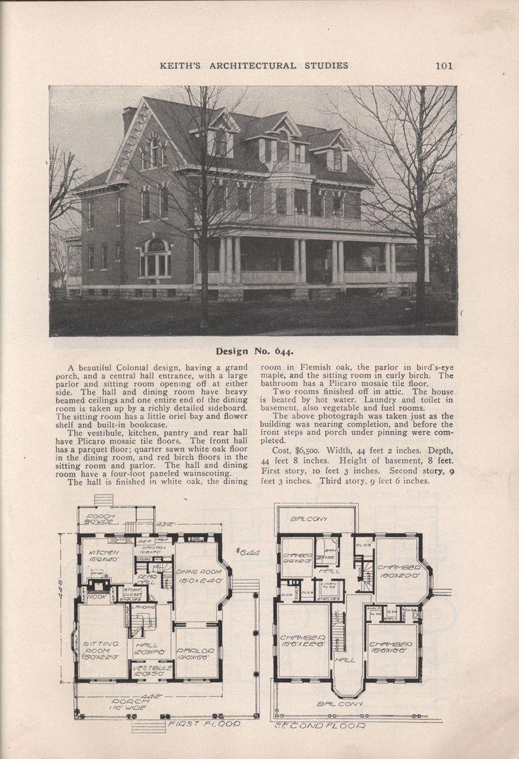 704 best historic house plans images on pinterest vintage houses