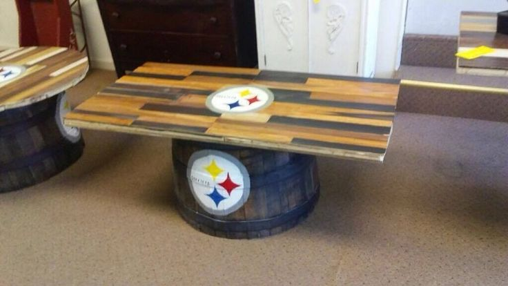 Pittsburgh Steelers Whiskey Barrel Table  #Unbranded