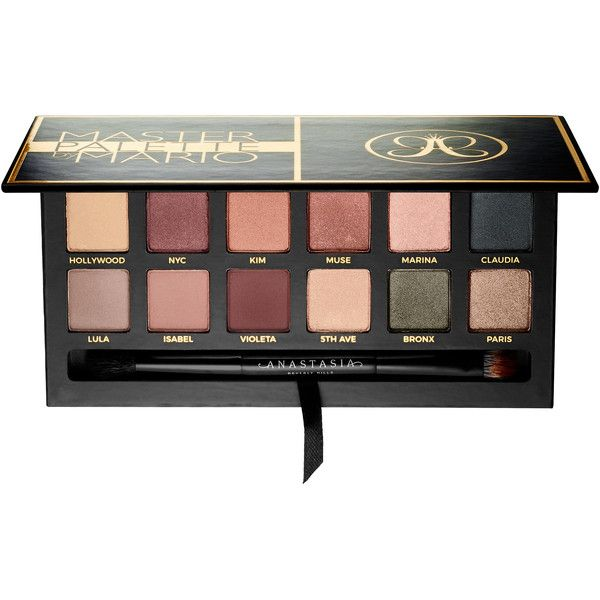 Anastasia Beverly Hills Master Palette By Mario Eye found on Polyvore featuring beauty products, makeup, eye makeup, eyeshadow, palette eyeshadow and anastasia beverly hills