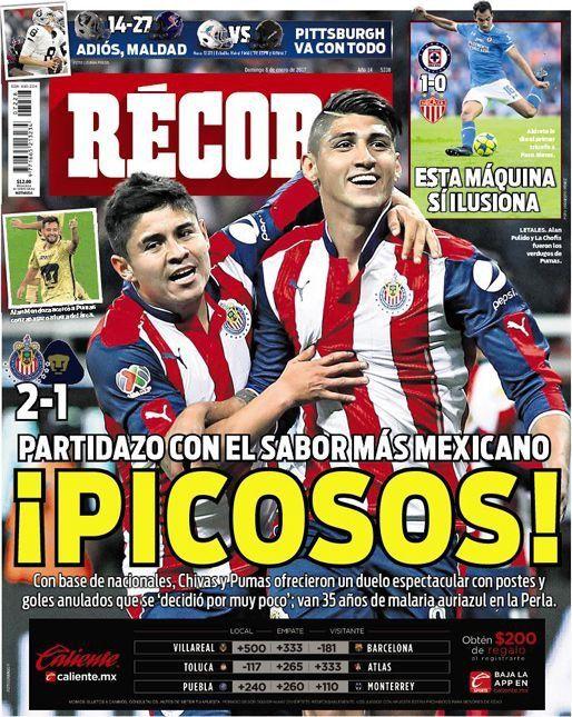 ¡Picosos! Chivas vence a PumasMX en partidazo y van 35 años de malaria felina en la Perla #hoyentuRÉCORD #Portada
