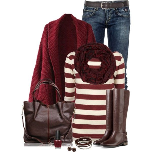 """""""Striped Top"""" by immacherry on Polyvore"""