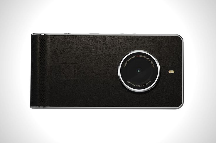 Kodak, the legendary American photography brand, just announced a brand new smartphone in a hope of a company revival. Kodak Ektra, named after the iconic rangefinder Ektra camera, is a smartphone with an oversized f/2.0 lens bulging from a black leatherette body, a 21 megapixel sensor, 6 axis optical image stabilisation, 4k video recording and importantly a dedicated shutter button.