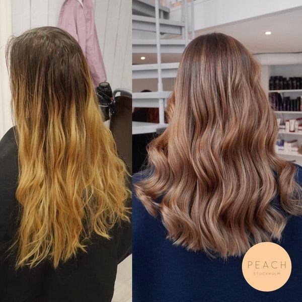 färga blekt hår