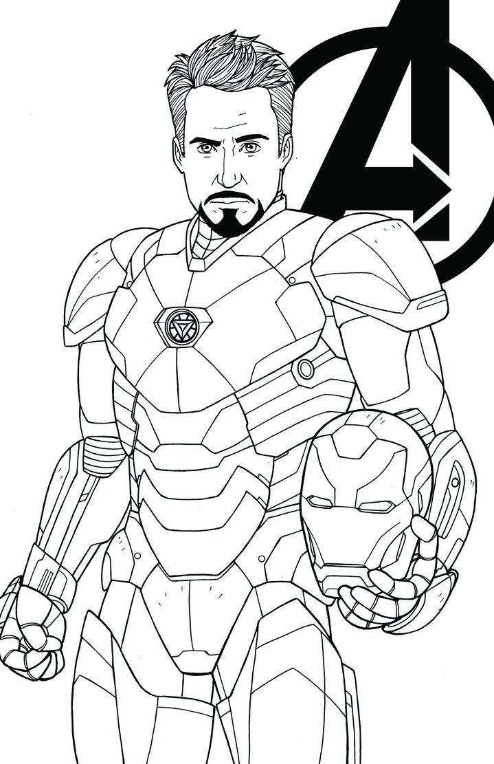 i was asked to draw tony stark as iron man from the mcu