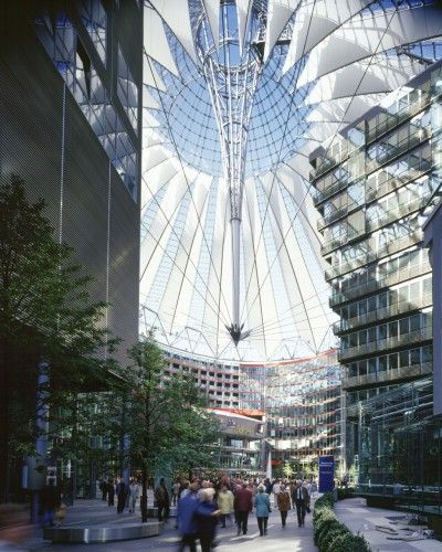 Sony Center in Berlin - Murphy Jahn  This place is amazing!