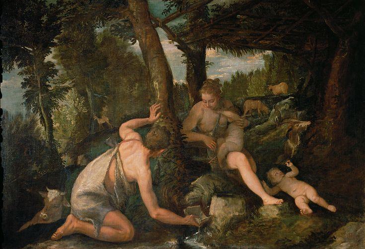 Adam and Eve after the expulsion from paradise / Adán y Eva tras la expulsión del Paraíso (Edén) // ca. 1580-1588 // Paolo Caliari, il Veronese and Workshop // Kunsthistorisches Museum Wien