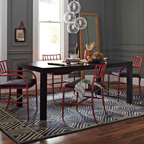 $199 Cluster Pendant: Westelm, Dining Rooms, Lights Fixtures, Dining Chairs, Parsons Dining, Red Chairs, Rooms Ideas, West Elm, Dining Tables