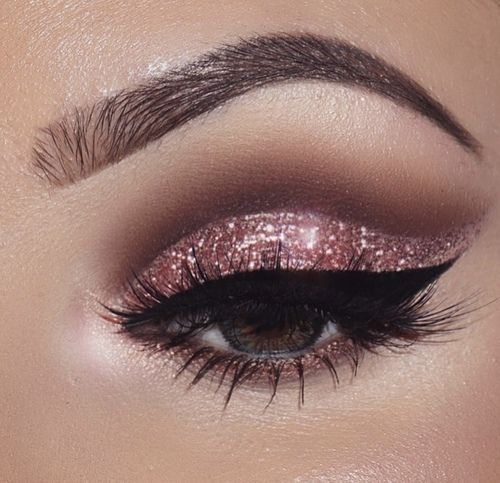 Imagem de makeup, girl, and glitter