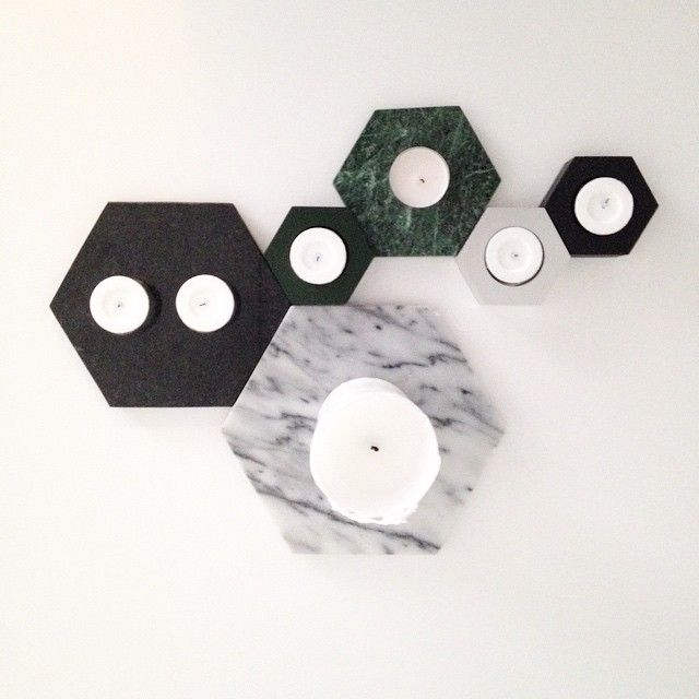 Candle trays and candle holders from Lagerhaus #marble #steel #lagerhaus #2015