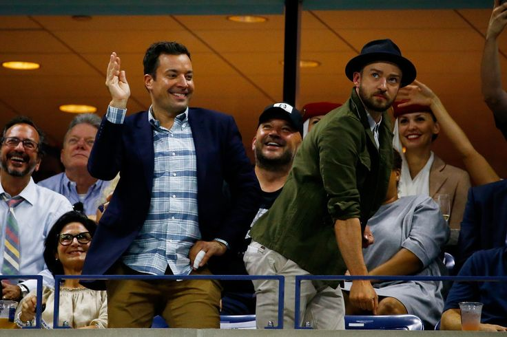 """Justin Timberlake and Jimmy Fallon Do a """"Single Ladies"""" Dance Routine at the US Open"""