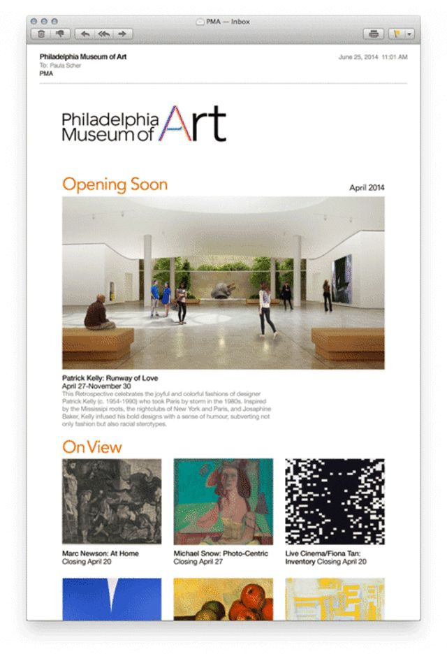 "Philadelphia's Museum Of Art - the ""A"" is animated to change form"