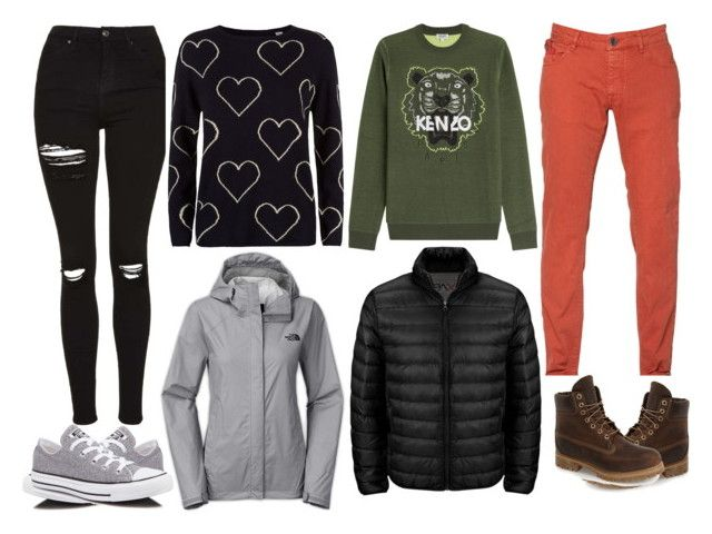 Surprise Valentine date by slytheriner on Polyvore featuring Chinti and Parker, The North Face, Topshop, Converse, Kenzo, Unlimited, Tumi, Timberland, women's clothing and women's fashion