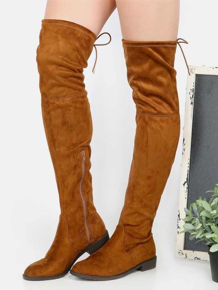 Shop Faux Suede Thigh High Boots RUST online. SheIn offers Faux Suede Thigh High Boots RUST & more to fit your fashionable needs.
