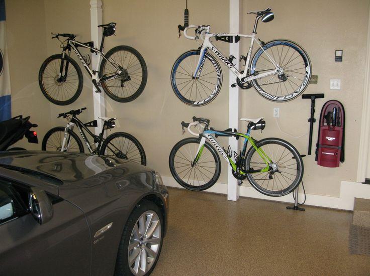 garage organization ideas for bikes