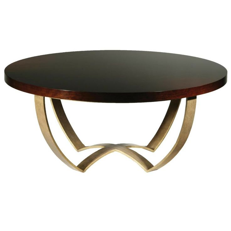 Monaco Coffee Table with Polished Top - French polished brass from Porta Romana