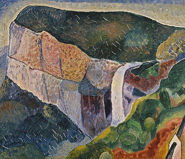 Govett's Leap . c. 1933 . Oil on pulp board . 41.3cm x 49.5cm . Grace Cossington Smith . 1892 - 1984