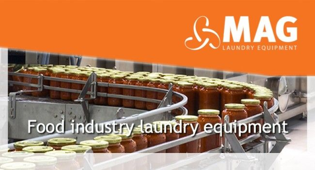 Food Industry  MAG Laundry Equipment have been supplying this sector for many years. We fully understand the importance of laundry equipment in all Food environments. The food industry demands the utmost level of cleanliness and efficiency and we are dedicated to providing only the very best laundry equipment to all our customers. All our