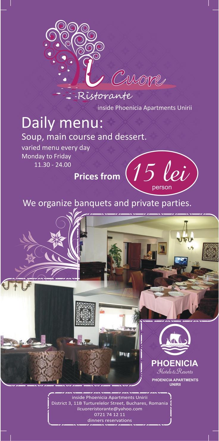 Il Cuore Italian Restaurant Flyer