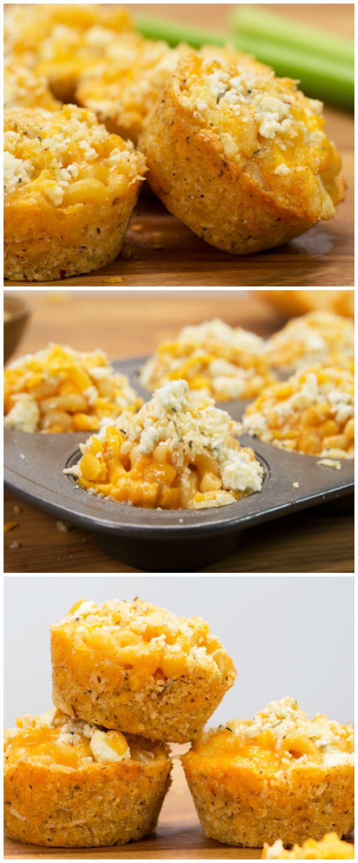 Buffalo Mac 'N' Cheese Muffins