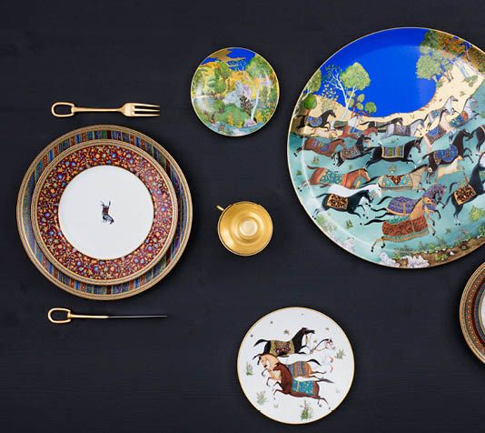 82 best hermes images on pinterest hermes tableware and dishes - Vaisselle de luxe marque ...