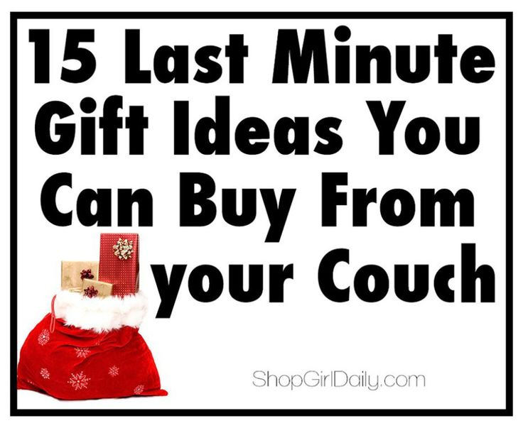 15 Last Minute Gift Ideas You Can Buy from your Couch | ShopGirlDaily.com