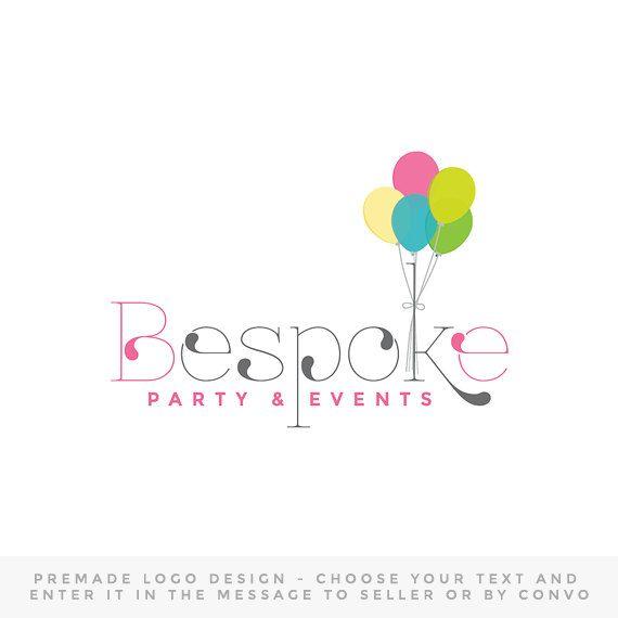 Premade logo design custom party planner logo by OaksOfGold