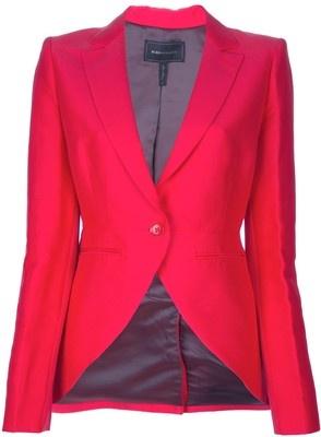 Pink curved hem blazer - BCBG Max Azria