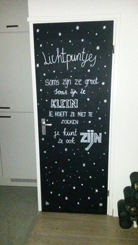 Krijtbord, chalkboard, tekst, winter