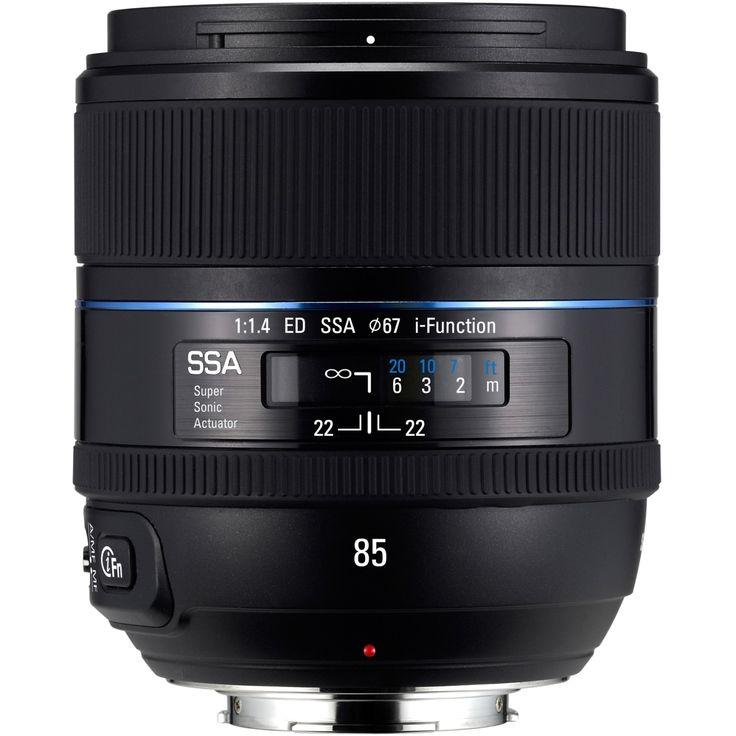 Samsung - 85 mm - f/1.4 - Fixed Focal Length Lens for Samsung NX