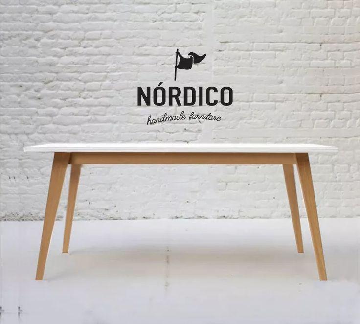 mesa comedor 140 escandinava nordica madera laqueada paraíso